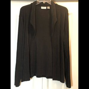 Chico's Travelers Open Front Cardigan Size 3